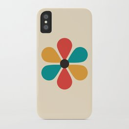 Mid Century Flower iPhone Case