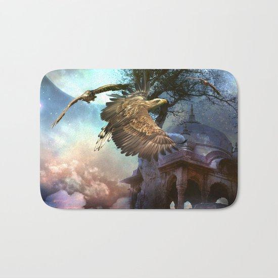 Awesome flying eagle Bath Mat