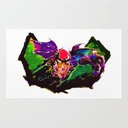 Psychedelic Bat Devil Rug