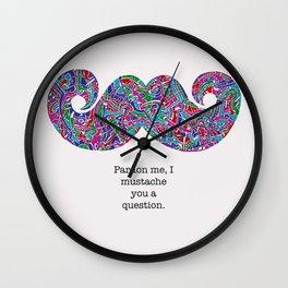 The Mechanical Mustache Wall Clock