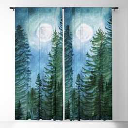 Mountain Forest Blackout Curtain