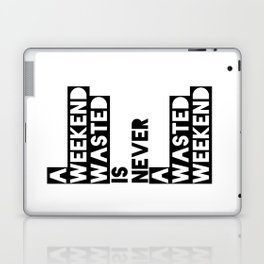 A Weekend Water (Black) Laptop & iPad Skin
