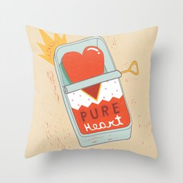 Canned Heart Throw Pillow