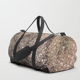 Sparkling GOLD BLACK Lady Glitter #1 #decor #art #society6 Duffle Bag