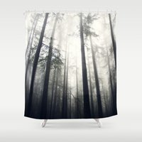 abyss Shower Curtains featuring Abyss by Aida Gradina