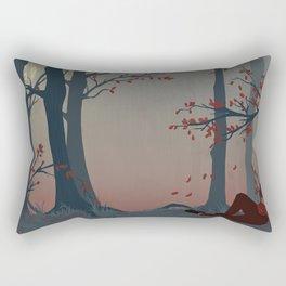 Happy Autumn Nap Rectangular Pillow