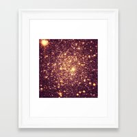 rose gold Framed Art Prints featuring Rose Gold by GalaxyDreams