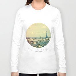 Pale Paris Long Sleeve T-shirt