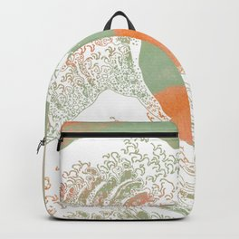 Calm into Great Wave Paint  I Backpack