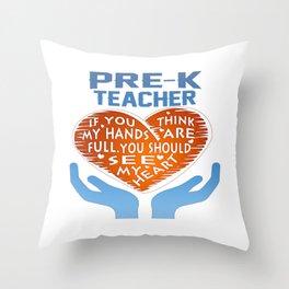 Pre-K Teacher Throw Pillow