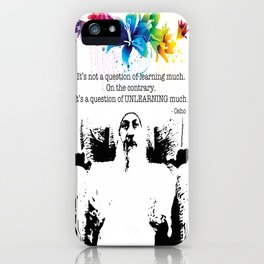 """Unlearn Everything"" iPhone Case"