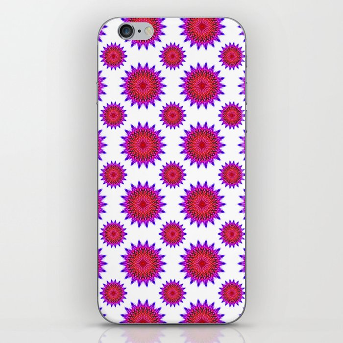 Pink,red and fuchsia color mandala iPhone Skin