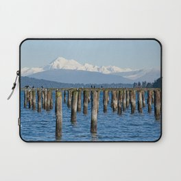MOUNT BAKER KOMA KULSHAN AND OLD PILINGS  Laptop Sleeve