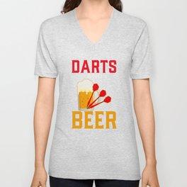 Darts Player Unisex V-Neck