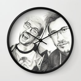 Markiplier and Jacksepticeye Wall Clock