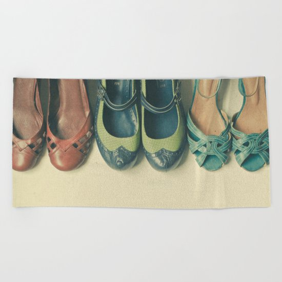 The Shoe Collection Beach Towel