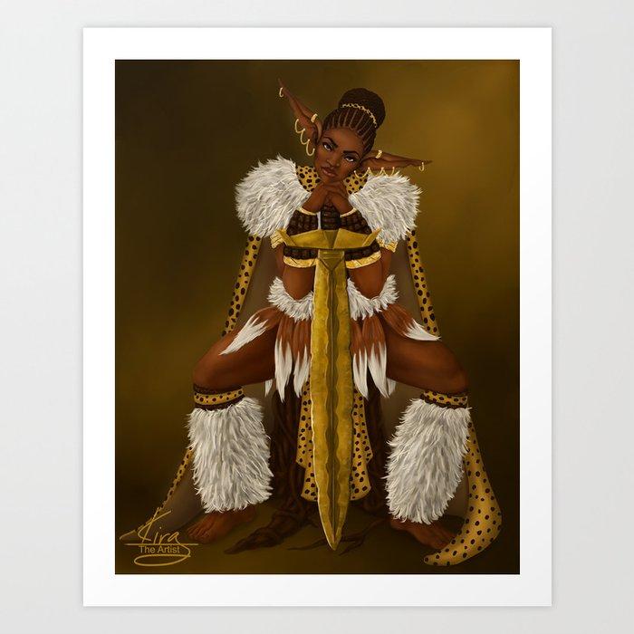 Zulu Elf Art Print