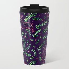 Ferns & Fawns, plum Travel Mug