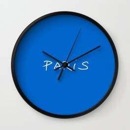 Paris 2 blue Wall Clock