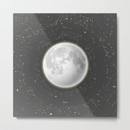 Telescope Dreamy Shine Metal Print