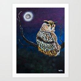 Owl Coat - Ugla Skyrta Art Print