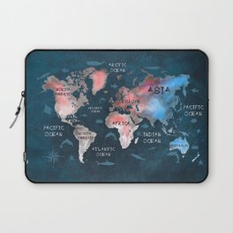world map 45 Laptop Sleeve