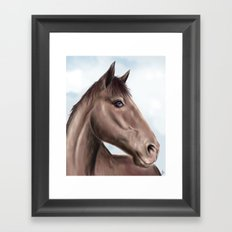Brown horse Framed Art Print