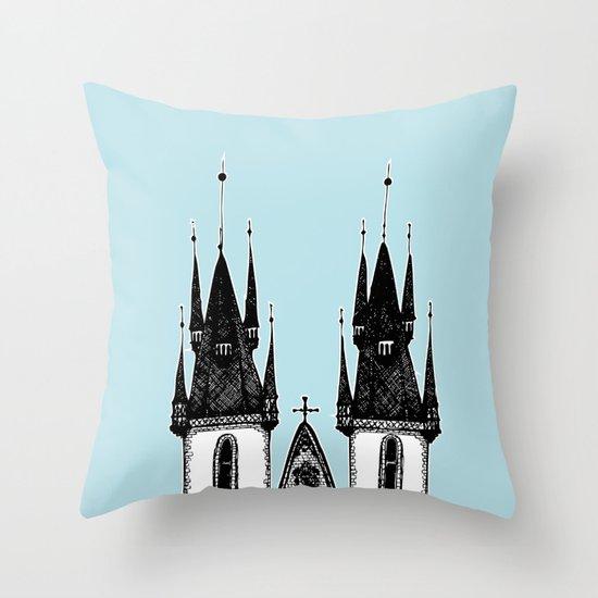 Tyn Church - Prague Throw Pillow