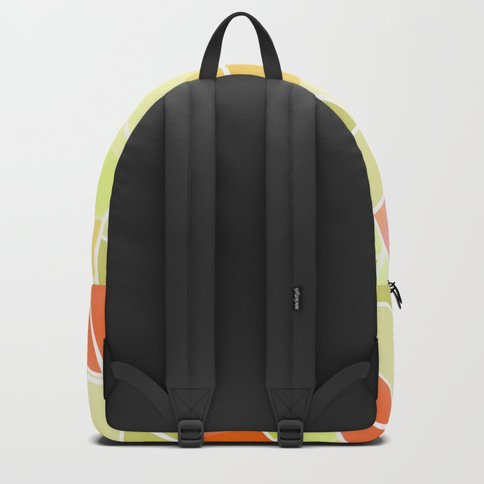 Yellow-red green summer pattern . Backpack