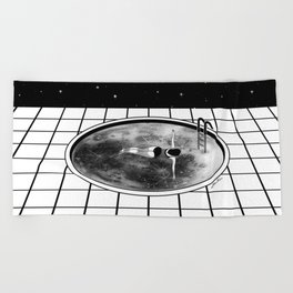 Pool Moon Beach Towel