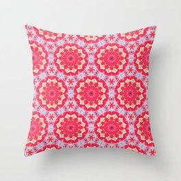 A Bunch of Pink Blooms Throw Pillow