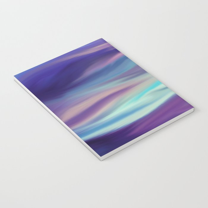 Painted digital silk texture blue colors Notebook