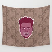 tyler spangler Wall Tapestries featuring Tyler Durden - FightClub by Kuki