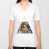 bastille V-neck T-shirts featuring Bastille #3 by Thafrayer