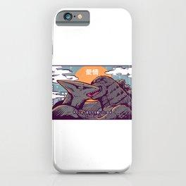 Kaiju kiss iPhone Case