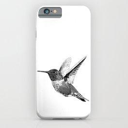Hummingbird-Flying-Bird-Animal,Nectar-Flower iPhone Case