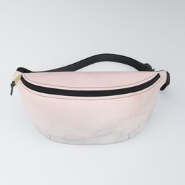 Blush Pink on Gray and White Marble II Fanny Pack