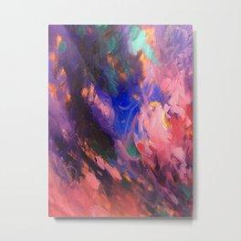 Pink Geode Metal Print