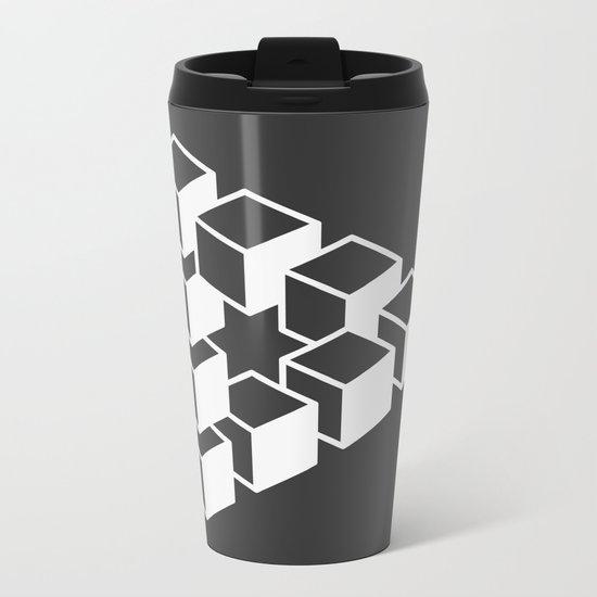 Optical Illusion Metal Travel Mug
