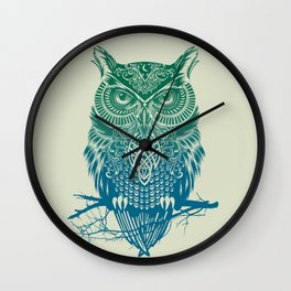 Warrior Owl Wall Clock