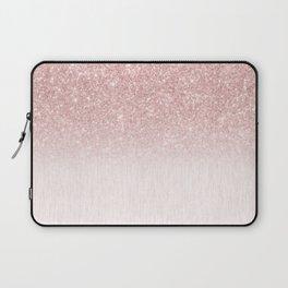 Elegant rose gold pink gradient glitter Laptop Sleeve
