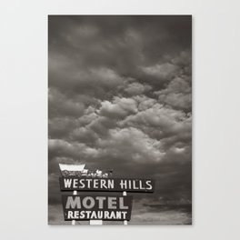 Western Hills- Black and White Canvas Print