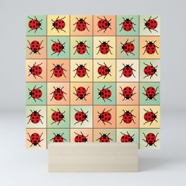 Ladybugs pattern Mini Art Print