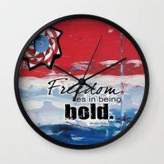 Bold Freedom Wall Clock