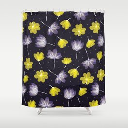 pressed flower Shower Curtain