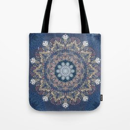 Blue's Golden Mandala Tote Bag