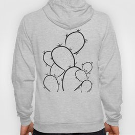 Prickly Succulent - Black and White Hoody