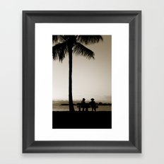 A  Lovely Evening Framed Art Print
