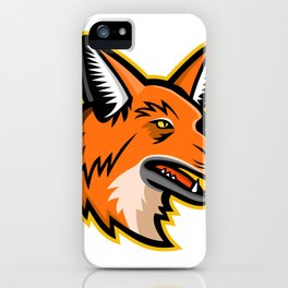 Maned Wolf Mascot iPhone Case