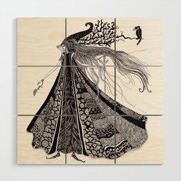 Wood Fairy Warrior Wood Wall Art